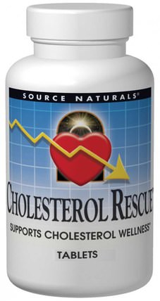 Cholesterol Rescue, 60 Tablets by Source Naturals, 健康,膽固醇支持,膽固醇 HK 香港
