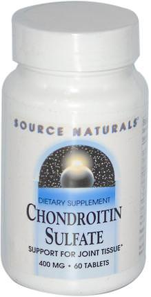 Chondroitin Sulfate, 400 mg, 60 Tablets by Source Naturals, 補品,牛製品,軟骨素 HK 香港