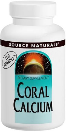 Coral Calcium, 600 mg, 120 Capsules by Source Naturals, 補品,礦物質,鈣,珊瑚鈣 HK 香港