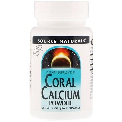 Coral Calcium, Powder, 2 oz (56.7 g) by Source Naturals, 補品,礦物質,鈣 HK 香港