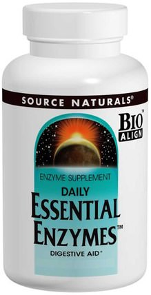 Daily Essential Enzymes, 500 mg, 240 Capsules by Source Naturals, 補充劑,酶,消化酶 HK 香港