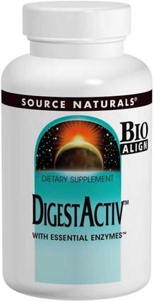 DigestActiv, 120 Capsules by Source Naturals, 補充劑,消化酶 HK 香港