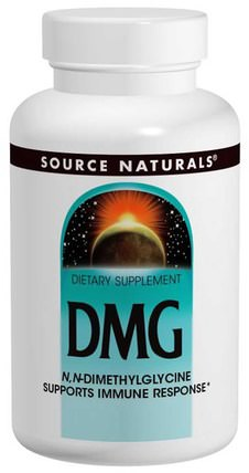 Source Naturals, DMG, 100 mg, 60 Tablets 補充劑,dmg(正二甲基甘氨酸)