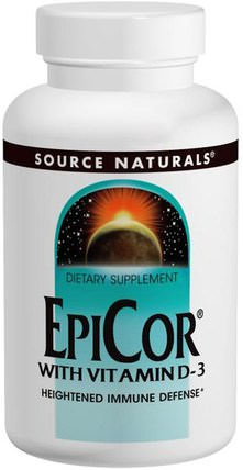 EpiCor with Vitamin D-3, 500 mg, 120 Capsules by Source Naturals, 健康,感冒和病毒,epicor HK 香港