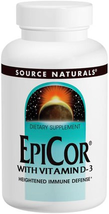 EpiCor with Vitamin D-3, 500 mg, 30 Capsules by Source Naturals, 健康,感冒和病毒,epicor HK 香港
