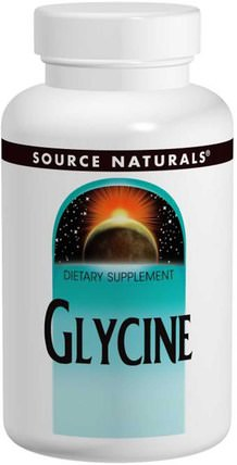 Glycine, 500 mg, 200 Capsules by Source Naturals, 補充劑,氨基酸,甘氨酸 HK 香港
