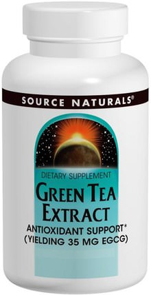 Green Tea Extract, 60 Tablets by Source Naturals, 補充劑,抗氧化劑,綠茶 HK 香港