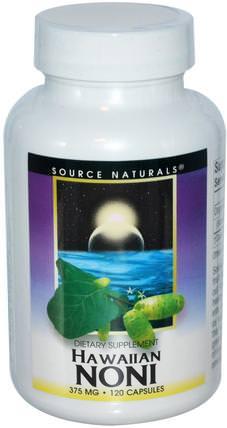 Source Naturals, Hawaiian Noni, 375 mg, 120 Capsules 草藥,諾麗果汁提取物,諾麗膠囊