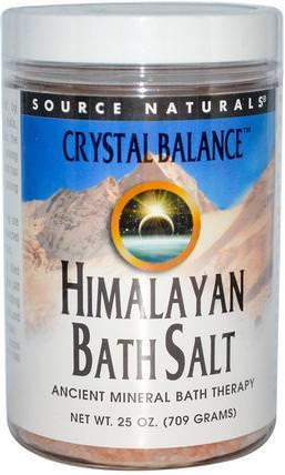 Source Naturals, Himalayan Bath Salt, 25 oz (709 g) 洗澡,美容,浴鹽