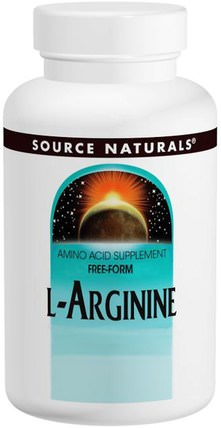 L-Arginine, Free Form, 1000 mg, 100 Tablets by Source Naturals, 補充劑,氨基酸,精氨酸 HK 香港