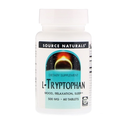L-Tryptophan, 500 mg, 60 Tablets by Source Naturals, 補充劑,l色氨酸,氨基酸 HK 香港