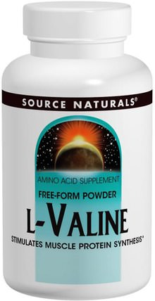 L-Valine, 3.53 oz (100 g) by Source Naturals, 補充劑,氨基酸,bcaa(支鏈氨基酸),纈氨酸 HK 香港