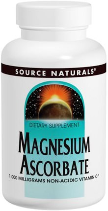 Magnesium Ascorbate, 1000 mg, 120 Tablets by Source Naturals, 補充劑,礦物質,抗壞血酸鎂 HK 香港