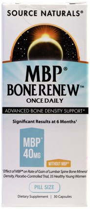 MBP Bone Renew, Once Daily, 30 Capsules by Source Naturals, 健康,骨骼,骨質疏鬆症 HK 香港