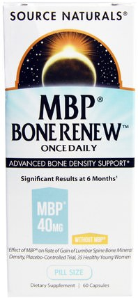 MBP Bone Renew, Once Daily, 60 Capsules by Source Naturals, 健康,骨骼,骨質疏鬆症 HK 香港