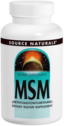 MSM, 1000 mg, 120 Tablets by Source Naturals, 健康,關節炎 HK 香港