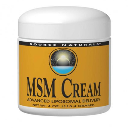 MSM Cream, 4 oz (113.4 g) by Source Naturals, 健康,關節炎 HK 香港