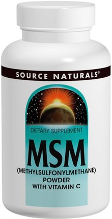 MSM (Methylsulfonylmethane) Powder, with Vitamin C, 8 oz (227 g) by Source Naturals, 補品,礦物質,關節炎 HK 香港