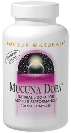 Mucuna Dopa, 100 mg, 120 Capsules by Source Naturals, 草藥,阿育吠陀阿育吠陀草藥,mucuna HK 香港