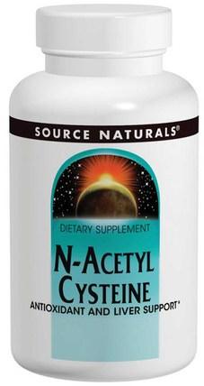 N-Acetyl Cysteine, 1000 mg, 120 Tablets by Source Naturals, 補充劑,氨基酸,nac(n乙酰半胱氨酸),抗氧化劑,維生素e +硒 HK 香港
