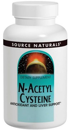N-Acetyl Cysteine, 600 mg, 120 Tablets by Source Naturals, 補充劑,氨基酸,nac(n乙酰半胱氨酸) HK 香港