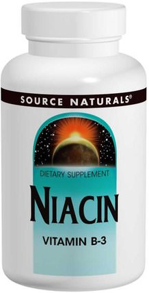 Niacin, 100 mg, 250 Tablets by Source Naturals, 維生素,維生素b,維生素b3,維生素b3 - 菸酸 HK 香港