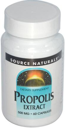 Propolis Extract, 500 mg, 60 Capsules by Source Naturals, 補充劑,蜂產品,蜂膠 HK 香港
