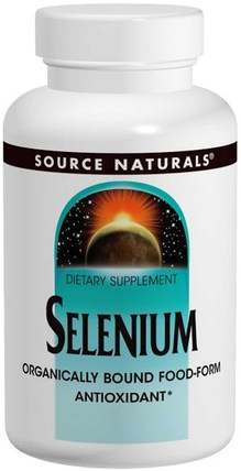 Selenium, 200 mcg, 120 Tablets by Source Naturals, 補品,礦物質 HK 香港