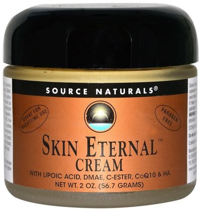 Skin Eternal Cream, 2 oz (56.7 g) by Source Naturals, 美容,面部護理,面霜乳液,血清,coq10皮膚,健康,α硫辛酸乳膏噴霧 HK 香港