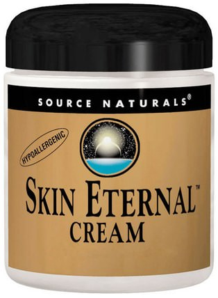 Skin Eternal Cream, For Sensitive Skin, 4 oz (113.4 g) by Source Naturals, 美容,面部護理,面霜乳液,血清,coq10皮膚,健康,α硫辛酸乳膏噴霧 HK 香港