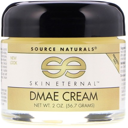 Skin Eternal DMAE Cream, 2 oz (56.7 g) by Source Naturals, 美容,面部護理,面霜,乳液,coq10皮膚 HK 香港