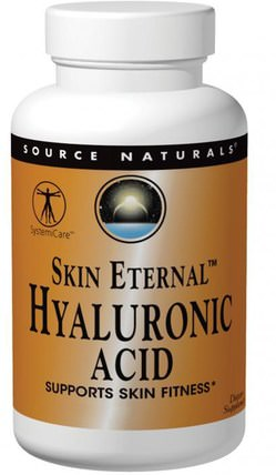 Skin Eternal Hyaluronic Acid, 50 mg, 60 Tablets by Source Naturals, 健康,骨骼,骨質疏鬆症,膠原蛋白,女性,美容 HK 香港