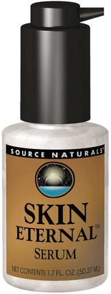 Skin Eternal Serum, 1.7 fl oz (50 ml) by Source Naturals, 健康,女性,α硫辛酸乳膏噴霧,dmae液體和標籤 HK 香港
