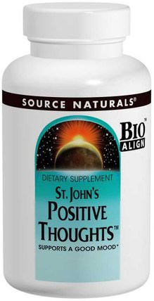 St. Johns Positive Thoughts, 45 Tablets by Source Naturals, 草藥,聖。 johns wort,relora HK 香港