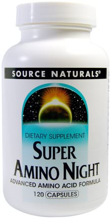 Super Amino Night, 120 Capsules by Source Naturals, 補充劑,氨基酸,氨基酸組合 HK 香港
