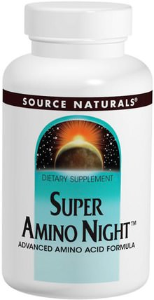 Super Amino Night, 240 Tablets by Source Naturals, 補充劑,氨基酸,氨基酸組合 HK 香港