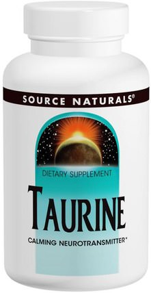 Taurine 1000, 1.000 mg, 240 Capsules by Source Naturals, 補充劑,氨基酸,牛磺酸 HK 香港