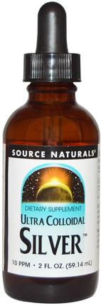 Ultra Colloidal Silver, 10 PPM, 2 fl oz (59.14 ml) by Source Naturals, 補充劑,礦物質,液體礦物質,抗生素 HK 香港