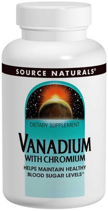 Vanadium with Chromium, 90 Tablets by Source Naturals, 補充劑,礦物質,鉻和釩 HK 香港