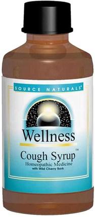 Wellness, Cough Syrup, 8 fl oz (236 ml) by Source Naturals, 補品,順勢療法,感冒和病毒,止咳糖漿 HK 香港