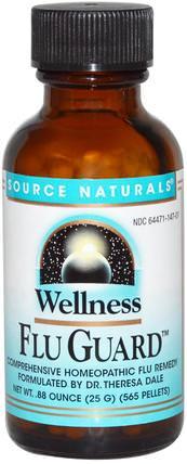 Source Naturals, Wellness FluGuard.88 oz (25 g), 565 Pellets 健康,感冒流感和病毒,感冒和流感,保健配方產品