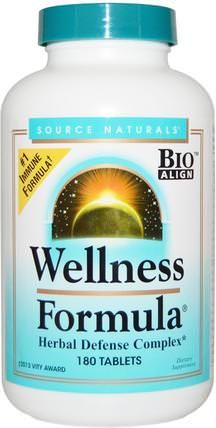 Wellness Formula, With Andrographis and Propolis Extract, 180 Tablets by Source Naturals, 補充劑,抗生素,穿心蓮,蜂產品,蜂膠 HK 香港