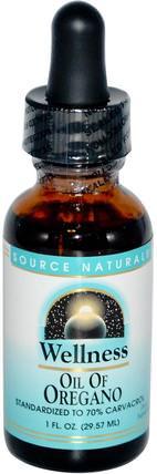 Wellness, Oil of Oregano, 1 fl oz (29.57 ml) by Source Naturals, 補充劑,牛至油,牛至油液,健康,感冒和病毒,保健配方產品 HK 香港