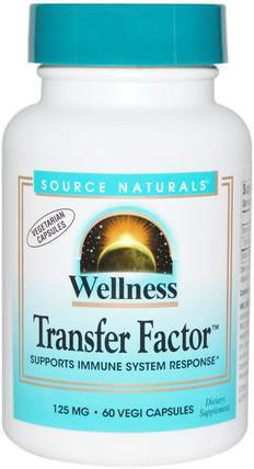 Wellness Transfer Factor, 125 mg, 60 Veggie Caps by Source Naturals, 健康,感冒流感和病毒,免疫系統,健康配方產品 HK 香港