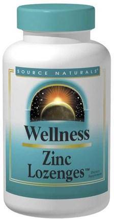 Wellness, Zinc Lozenges, Peach-Raspberry, 23 mg, 120 Lozenges by Source Naturals, 補品,礦物質,鋅含片 HK 香港