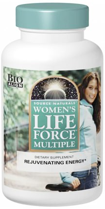 Womens Life Force Multiple, 180 Tablets by Source Naturals, 維生素,女性多種維生素,生命力 HK 香港