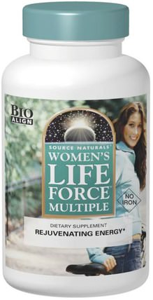 Womens Life Force Multiple, No Iron, 180 Tablets by Source Naturals, 維生素,女性多種維生素,生命力 HK 香港