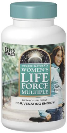 Womens Life Force Multiple, No Iron, 90 Tablets by Source Naturals, 健康,女性,生命力 HK 香港