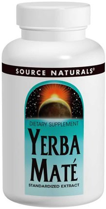 Yerba Mate, 600 mg, 90 Tablets by Source Naturals, 食物,涼茶,馬黛茶 HK 香港