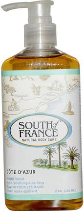 Cote D Azur, Hand Wash with Soothing Aloe Vera, 8 oz (236 ml) by South of France, 洗澡,美容,肥皂 HK 香港